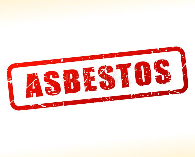 Asbestos text buffered royalty free illustration