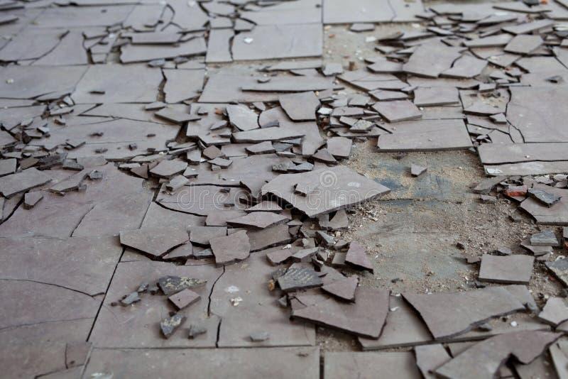 Asbestos tiles stock image