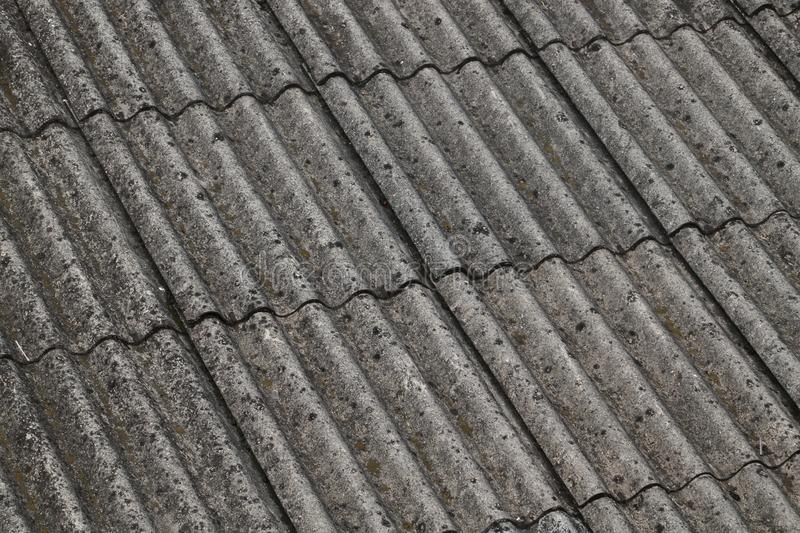 Asbestos on a roof royalty free stock image