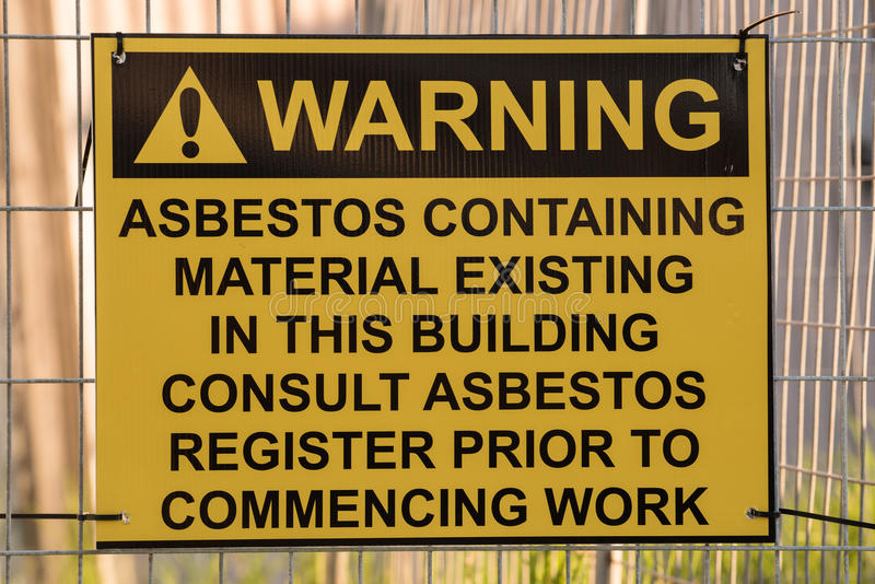 Asbestos Warning Sign stock photography