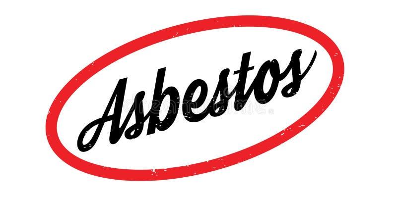 Asbeststempel vektor abbildung