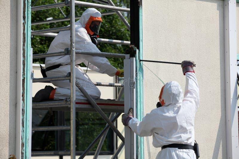Asbestverwijdering stock fotografie