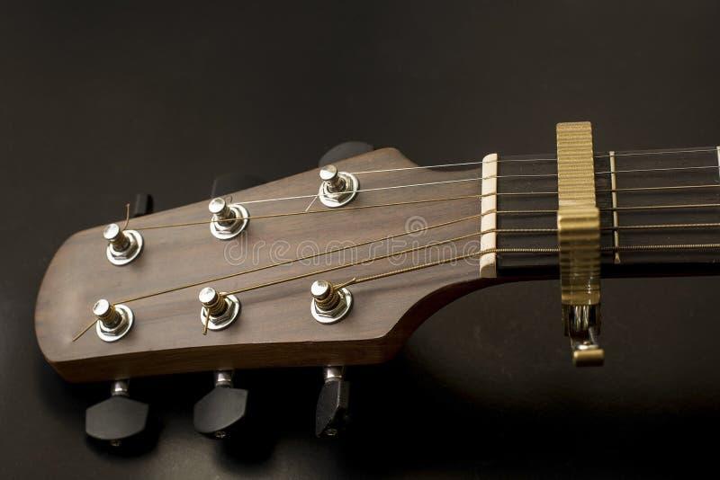 Asblok, lijstwerk bord, lijstwerken, akoestische tuners van gitaar royalty-vrije stock afbeeldingen