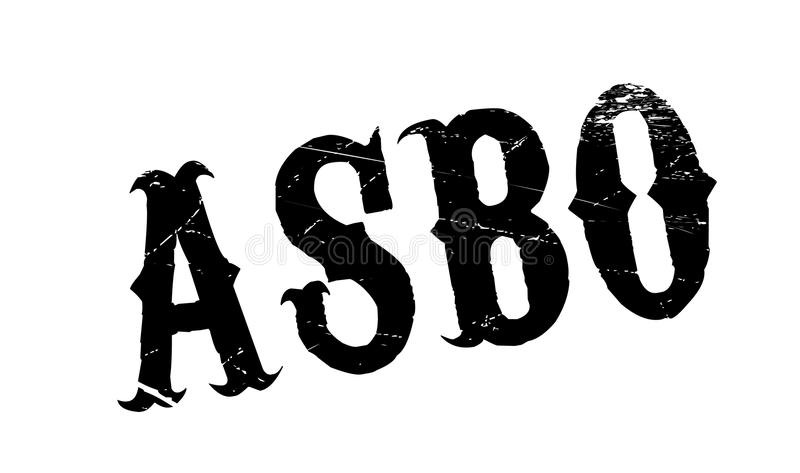 ASBO Anti-Social Behavior Order rubber stamp. Grunge design with dust scratches. Effects can be easily removed for a clean, crisp look. Color is easily changed vector illustration
