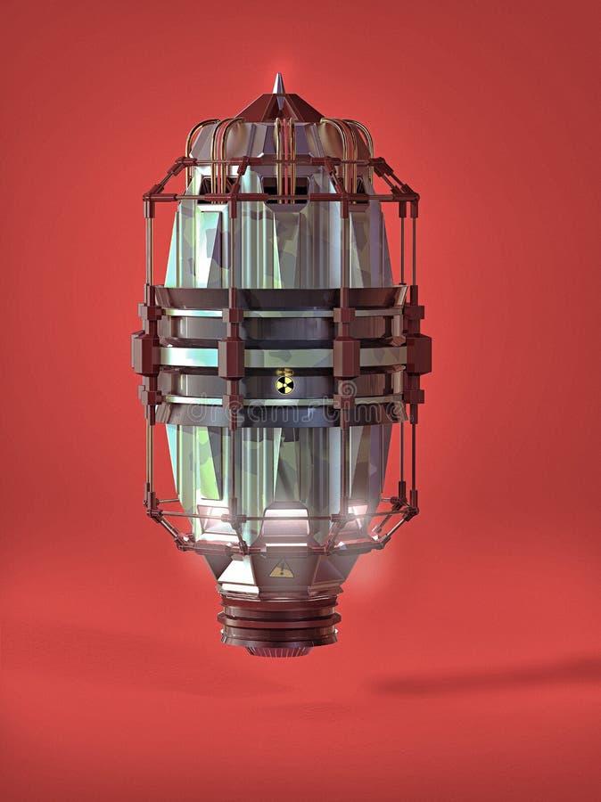 asbtract de hoge machine van de details technische tijd sc.i-FI met de elementen van het camouflagemetaal en stralingstekens Tech vector illustratie