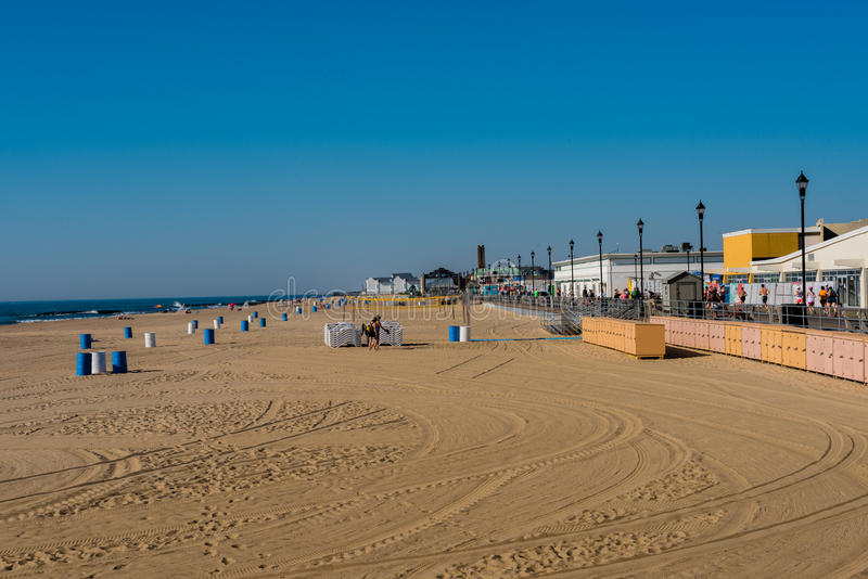 Asbury parkerar stranden royaltyfri foto
