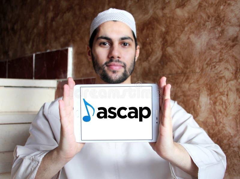 ASCAP, società americana del logo dei compositori, degli autori e degli editori fotografia stock libera da diritti
