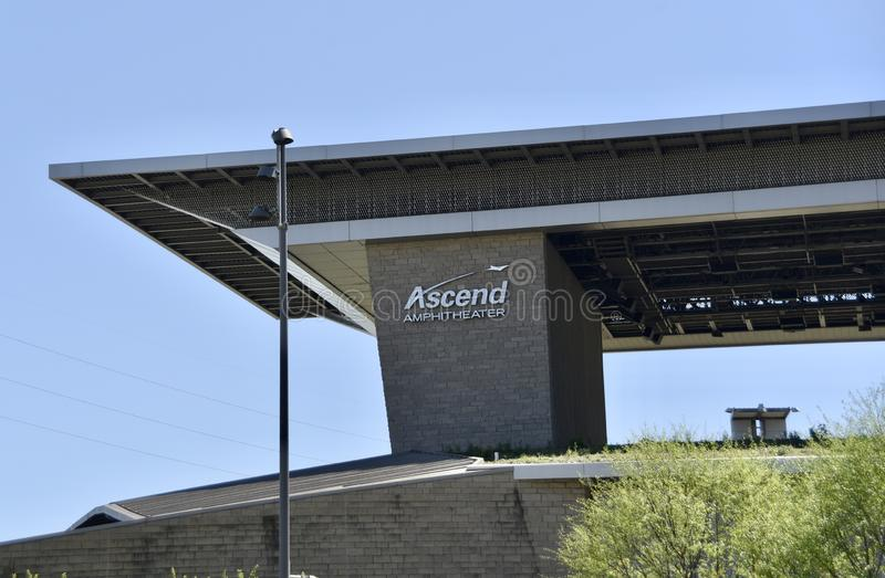 Ascend Amphitheater Downtown, Nashville, TN. The Ascend Amphitheater in Downtown Nashville, TN is operated by the Live Nation Entertainment, which is known to be stock photo