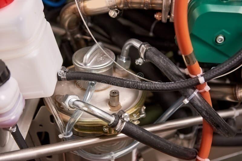 Ascendente cercano del motor, depósito de aceite imagen de archivo libre de regalías