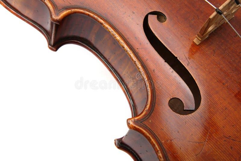 Ascendente cercano del violín imagenes de archivo