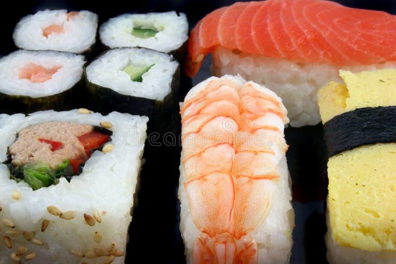 Ascendente próximo do sushi fotos de stock royalty free