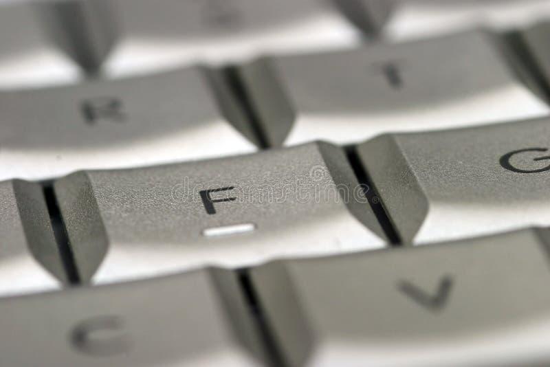 Ascendente próximo do teclado imagem de stock royalty free