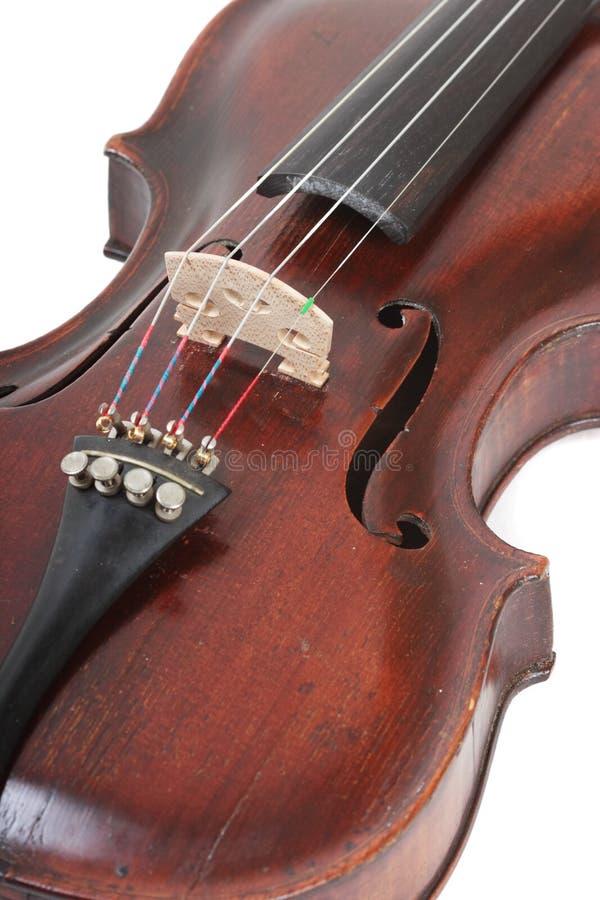 Ascendente próximo do violino imagem de stock