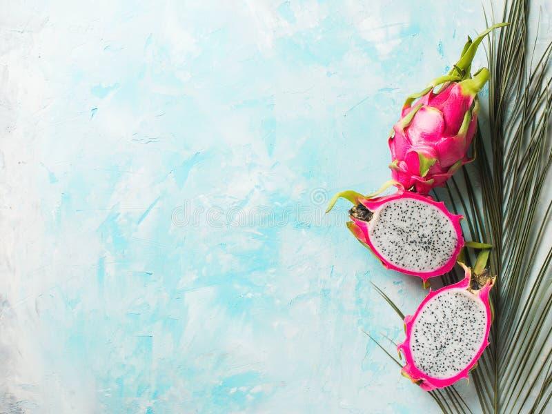 Ascendente próximo maduro do pitaya ou do dragonfruit fotos de stock royalty free