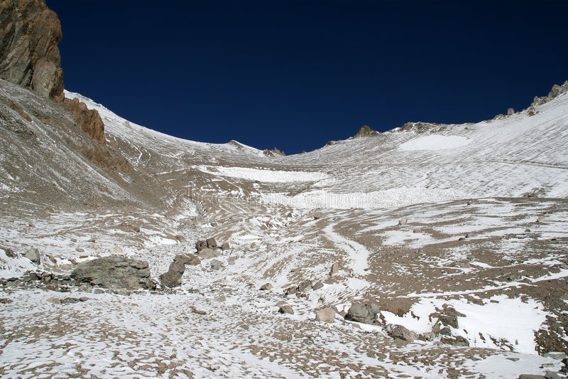 Download Ascending Aconcagua, Argentina Stock Photo - Image: 7182684
