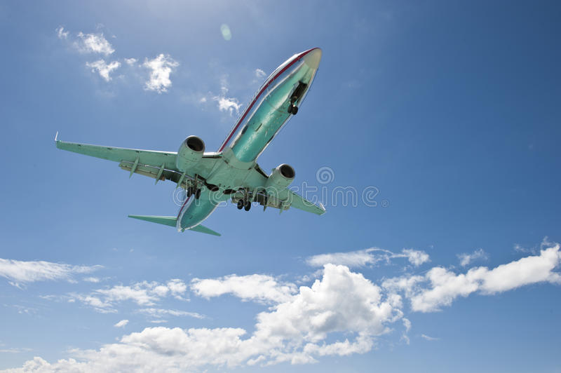 Ascending Airplane royalty free stock photography