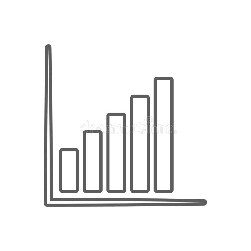 Ascending chart icon. Element of Finance for mobile concept and web apps icon. Outline, thin line icon for website design and. Development, app development on vector illustration