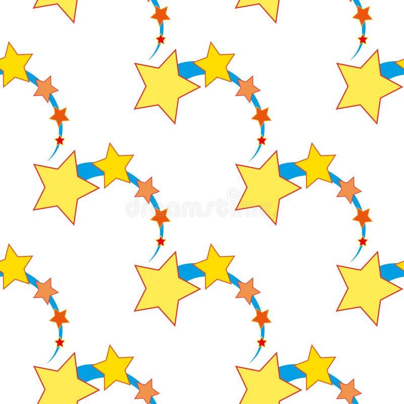 Ascending star as seamless. Pattern vector illustration