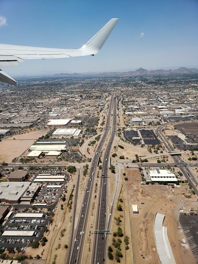 Ascending to Phoenix Sky, AZ stock photography