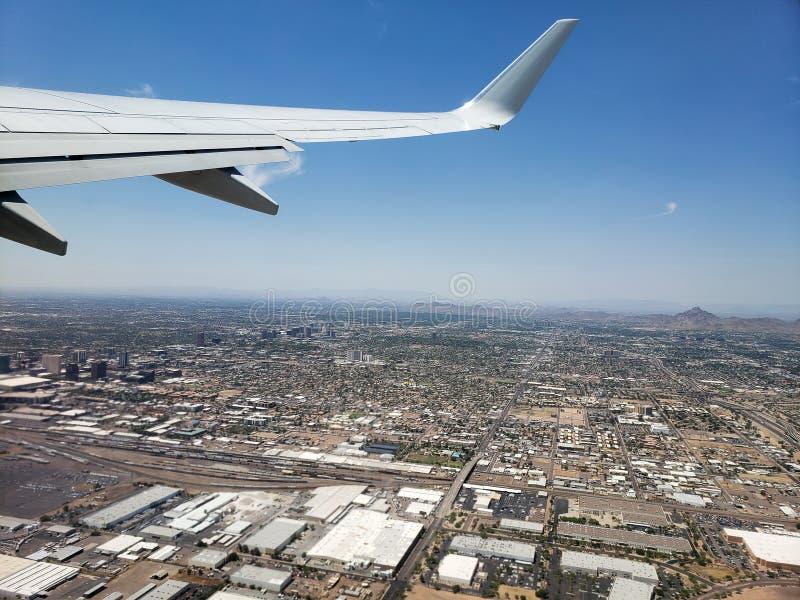 Ascending to Phoenix Sky, AZ royalty free stock photography
