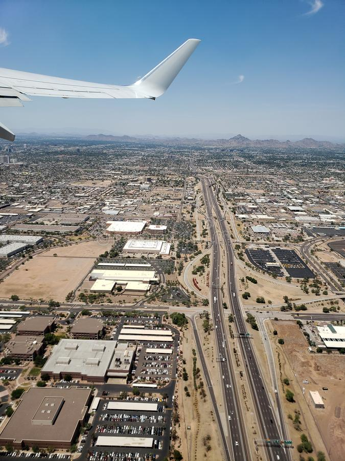 Ascending to Phoenix Sky, AZ royalty free stock photos