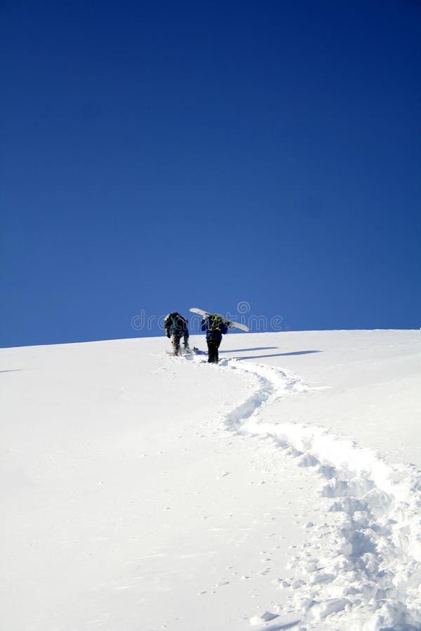 Ascensão, ao alpinista foto de stock royalty free