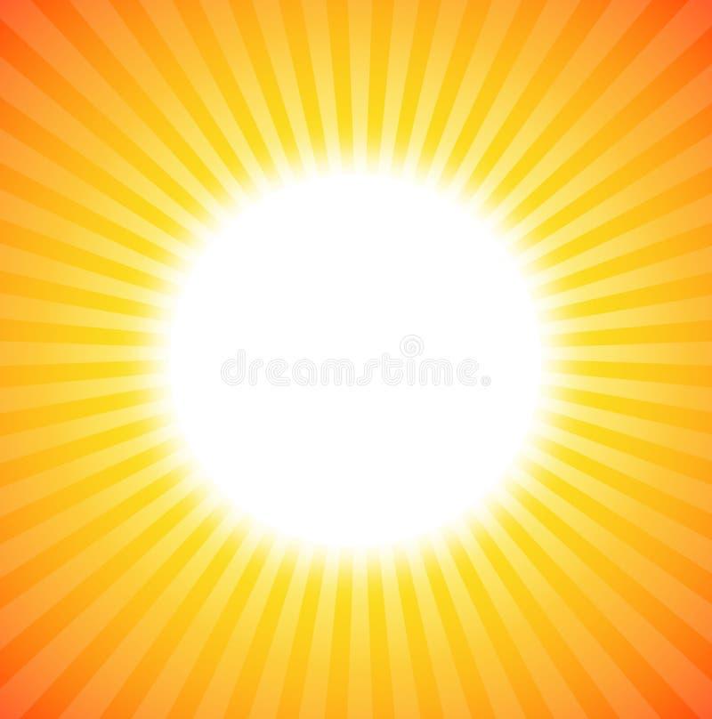 Ascensão de Sun ilustração stock