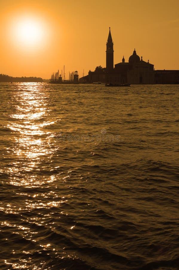 Ascensão de Sun sobre Veneza foto de stock