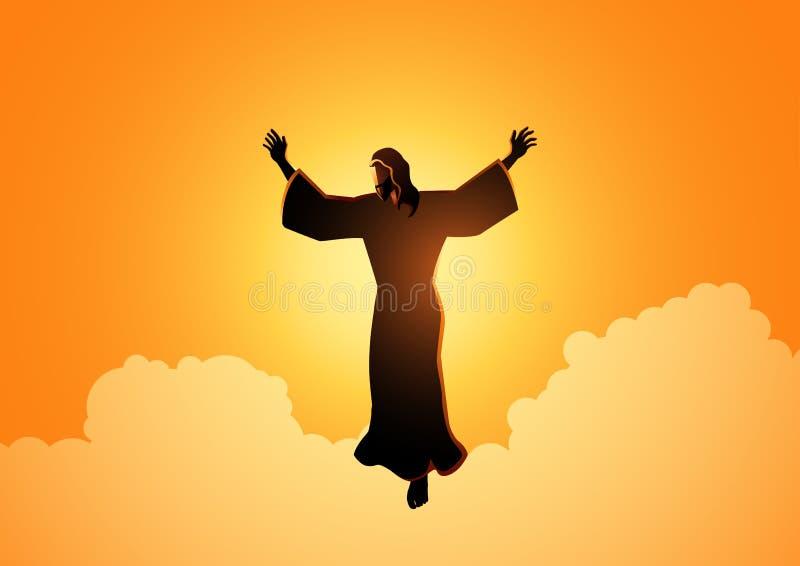 Ascensão do Jesus Cristo ilustração do vetor