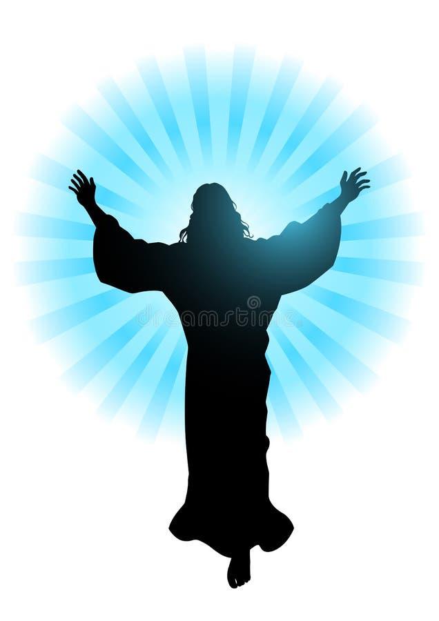 Ascensão do Jesus Cristo ilustração royalty free