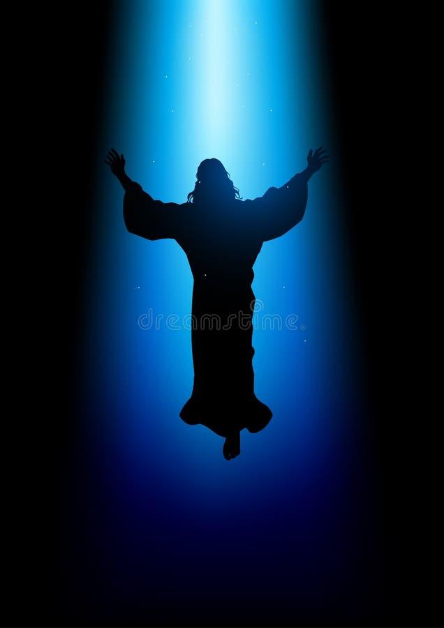 Ascensão do Jesus Cristo ilustração stock
