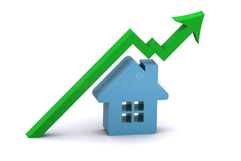 Ascensão do mercado imobiliário ilustração do vetor