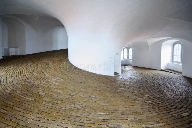 Ascensão do parafuso na torre de Rundetarn fotos de stock