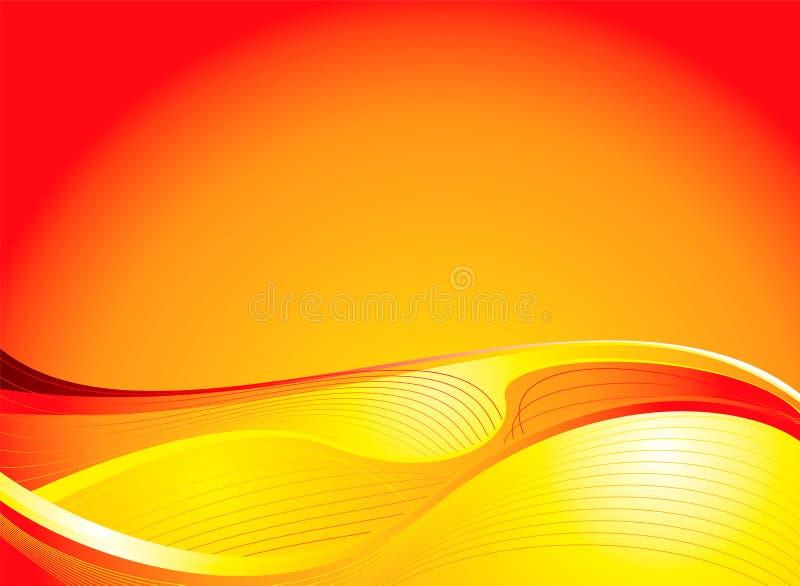 Ascensão dourada do sol ilustração royalty free