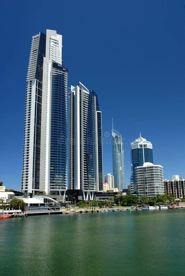 Ascensão elevada de Gold Coast fotos de stock royalty free
