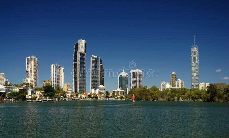 Ascensão elevada de Gold Coast foto de stock