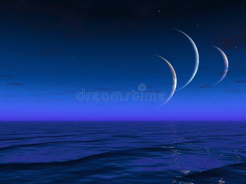 Ascensão estrangeira dos planetas dos mundos ilustração stock