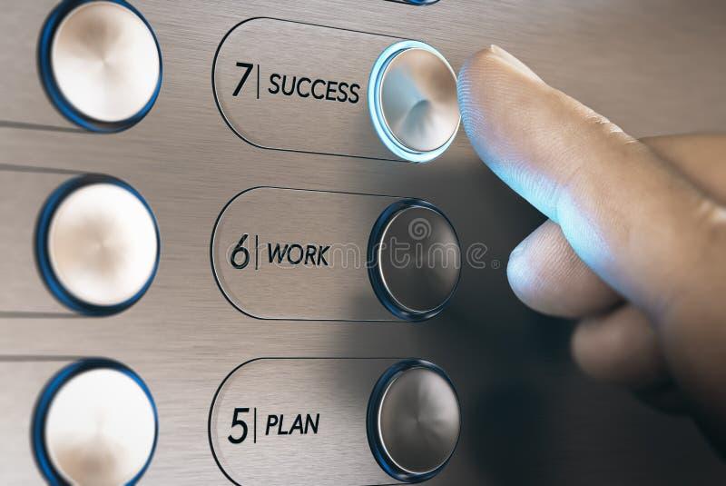 Ascenseur au concept de succès illustration de vecteur