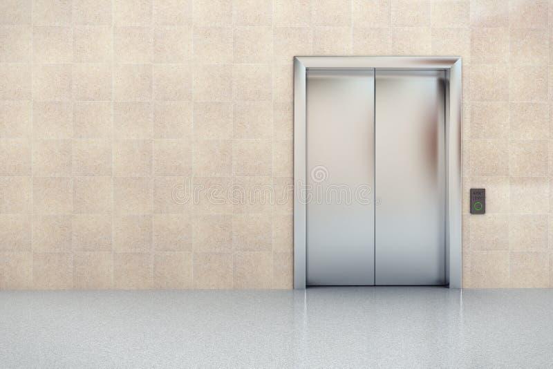 Ascenseur dans l'entrée images stock