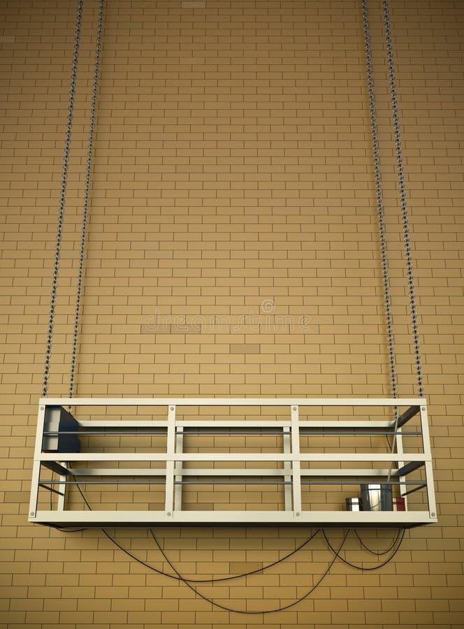 Ascenseur de construction illustration de vecteur