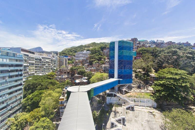 Ascenseur du taudis de Rio de Janeiro images libres de droits