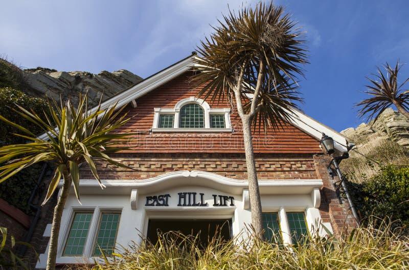 Ascenseur est de colline dans Hastings images libres de droits
