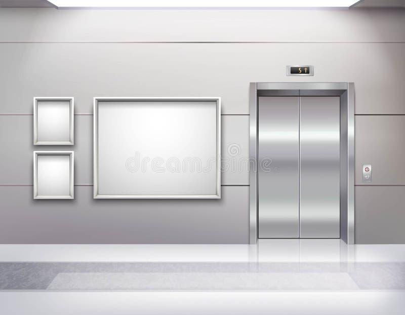 Ascenseur Hall Interior illustration libre de droits