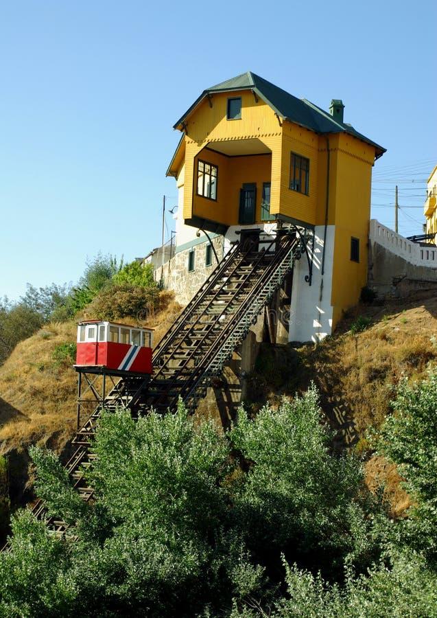 Ascenseurs à Valparaiso, Chili photos stock
