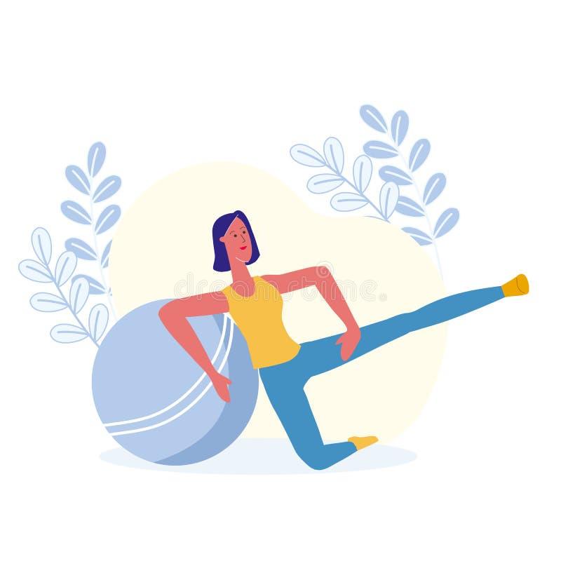 Ascenseurs de jambe, illustration de vecteur d'exercice physique illustration libre de droits