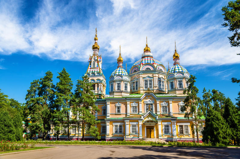 Download Ascension Cathedral In Panfilov Park Of Almaty, Kazakhstan Stock Image - Image of cathedral, dome: 79298231