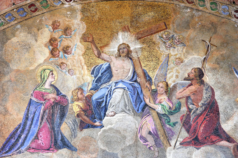 Ascension of Jesus Christ stock image
