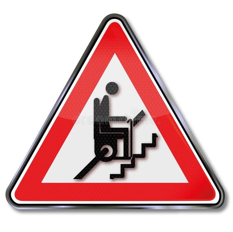 Ascensore della scala per i pensionati illustrazione vettoriale