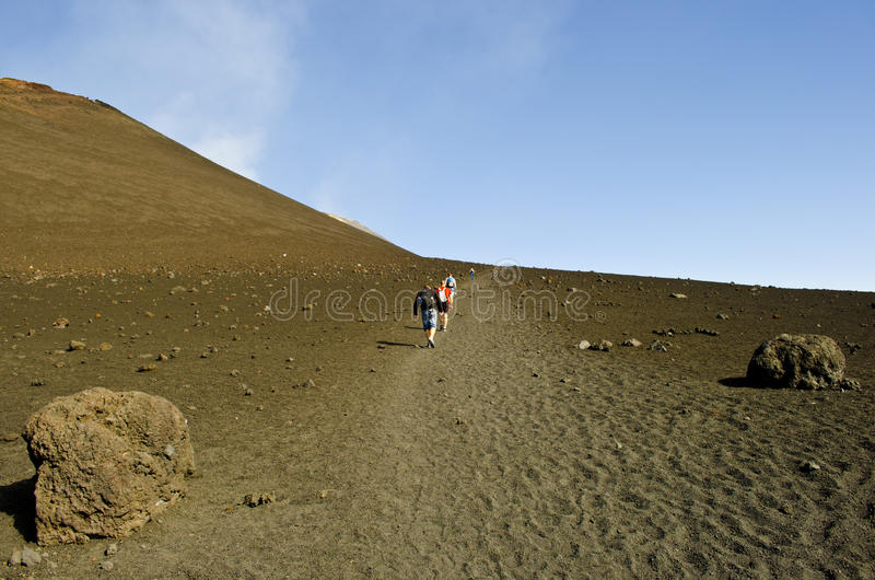 Ascent of Mount Etna royalty free stock images