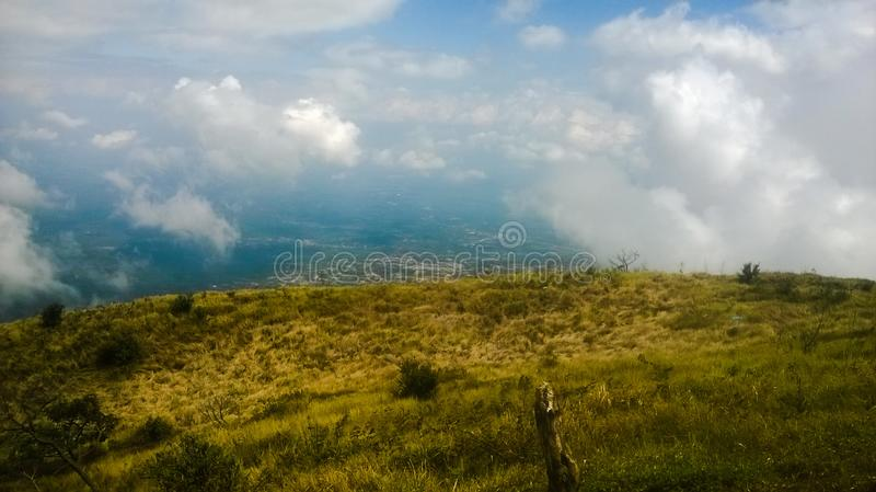 The ascent of Mount Merbabu boyolali in Central Java Mount Merbabu is one of the highest mountain in Central Java. Between the towns of magelang, Salatiga and stock images